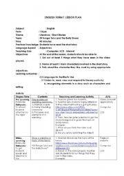 English worksheet: Literature of bunga telur and bally shoes