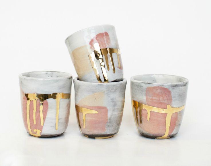 beautiful ceramic pottery mugs