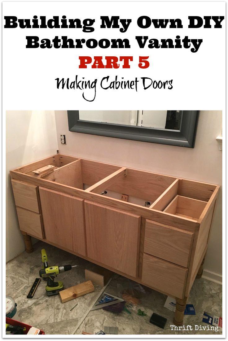 building my own diy bathroom vanity part 5 making cabinet doors