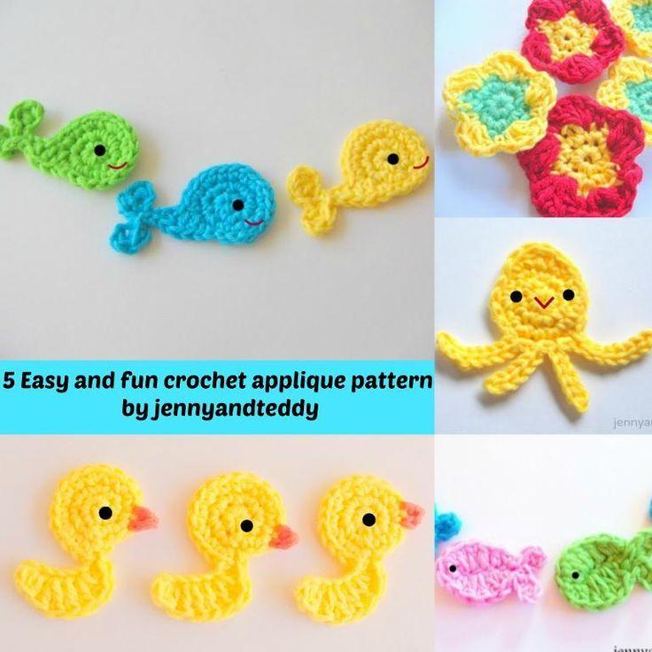 (4) Name: 'Crocheting : 5 easy and fun crochet applique
