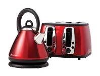 Russell Hobbs Metallic Red 4 Slice Toaster & Kettle