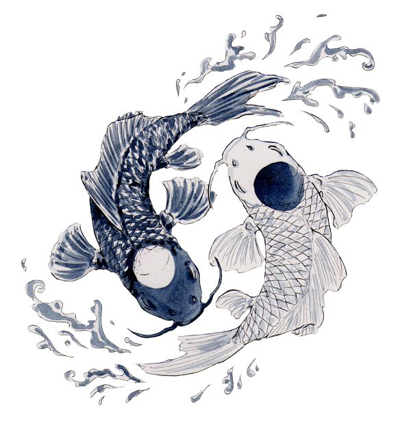Tui and la rt ph t grap pinterest posts a tattoo for Koi yin yang
