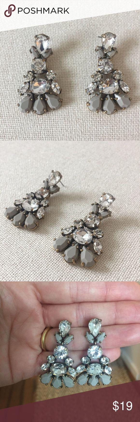 JCrew Grey Chandelier Earrings JCrew Grey Chandelier Earrings J. Crew Jewelry Earrings
