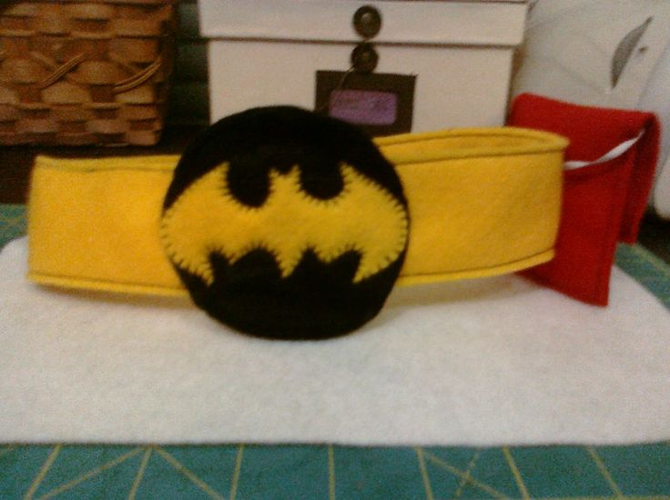 My nephew Brock is crazy about Batman. He even sleeps with aBatman cape on! For Christmas I made him a batman mask and belt. I found the pa...