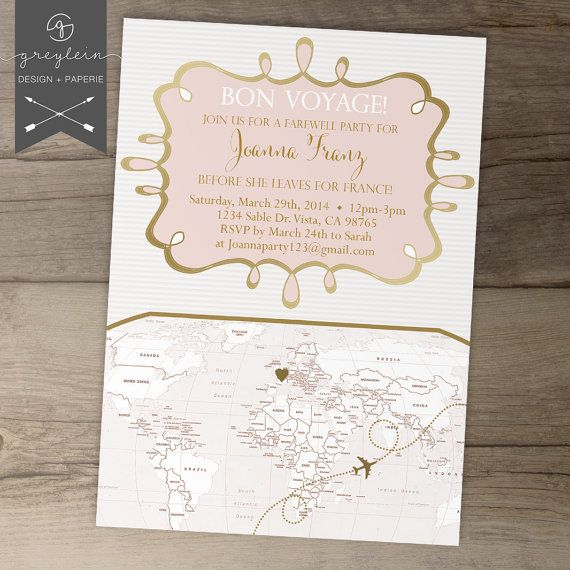 The 25 best Going Away Party Invitations ideas – Goodbye Party Invitations