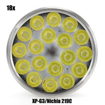 Astrolux MF01 18x XP-G3/Nichia 219C 12000LM Super Bright LED Flashlight 18650 Sale - Banggood.com