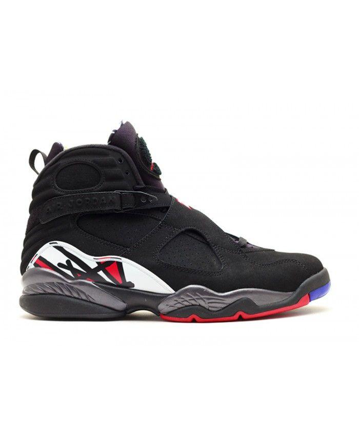 Air Jordan 8 Retro Playoff Black Varsity Red White Bright Concord 305381 061