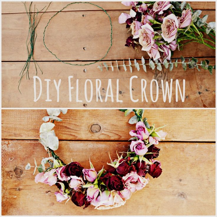 DIY Floral Crown - Flower Headpiece for Coachella and festivals - by Hi Lovely!