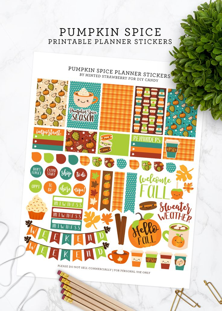 MINTED STRAWBERRY: Download this fun and free pumpkin-spice themed planner printable!