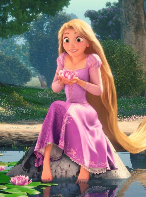 Rapunzel in the lilies
