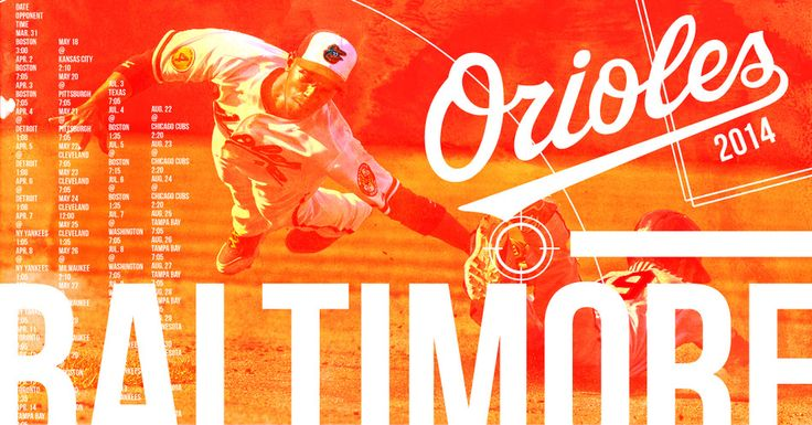 2014 Baltimore Orioles Schedule Poster Design by Danielle Podeszek