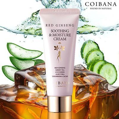 Купить Успокаивающий и увлажняющий крем с экстрактом красного женьшеня COIBANA oothing Moisture Cream Red Ginseng,