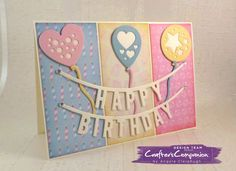 5 x 7 Card made using Sara Signature Birthday Party Collection -  Designed by Angela Clerehugh #crafterscompanion
