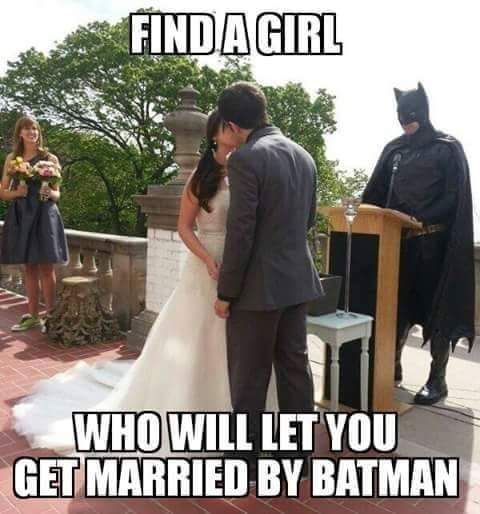 "FYI guys, I would totally do this. And once we are married and are walking back down the aisle, I want the imperial march playing so as we are announcing that we're Mr. and Mrs. there's ""dun dun dun dun dundun dun dundun"" in the background."