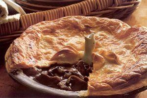 Pastei met rundvlees en champignons uit Australië