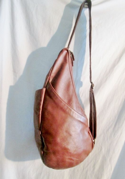 AMERIBAG THE HEALTHY BACK BAG Teardrop Sling Bag BACKPACK BROWN ...