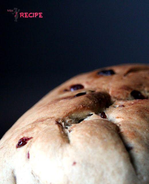 Pain déjeuner canneberges coco | Cranberry coconut bread - Miss-Recipe.com