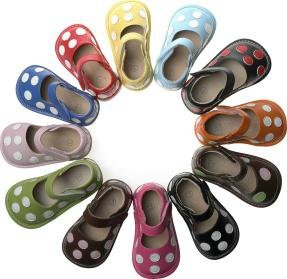 Polka dot squeaky shoes -love these! If we are having a girl I will need a pair of every color! I don't think they will squeak much because her brothers will carry her! Hahahaha