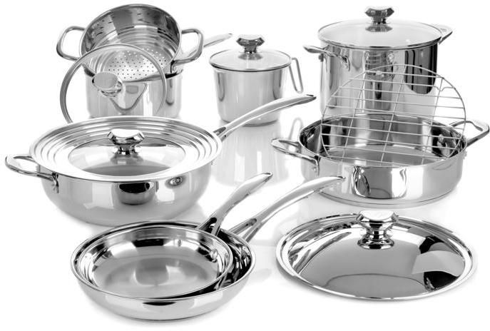 Wolfgang Puck Bistro Elite 14-piece Stainless Cookware Set - $229.95