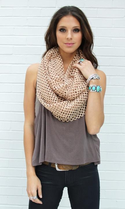 Cutout Infinity - Summer scarf