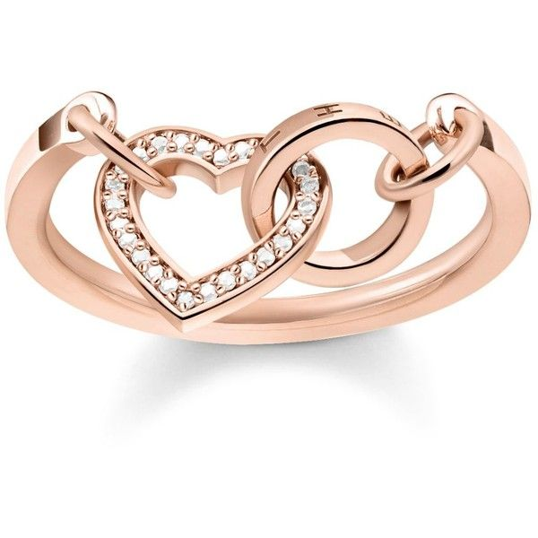Thomas Sabo Together Forever Rose Gold Heart Ring 175 Liked On Polyvore Featuring Jewelry Rings Access Filigree Engagement Ring Rose Gold Engagement Ring