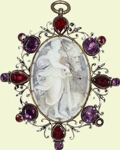 Gruesome beauty. Cameo of Judith and Holofernes    16th cent.    German.