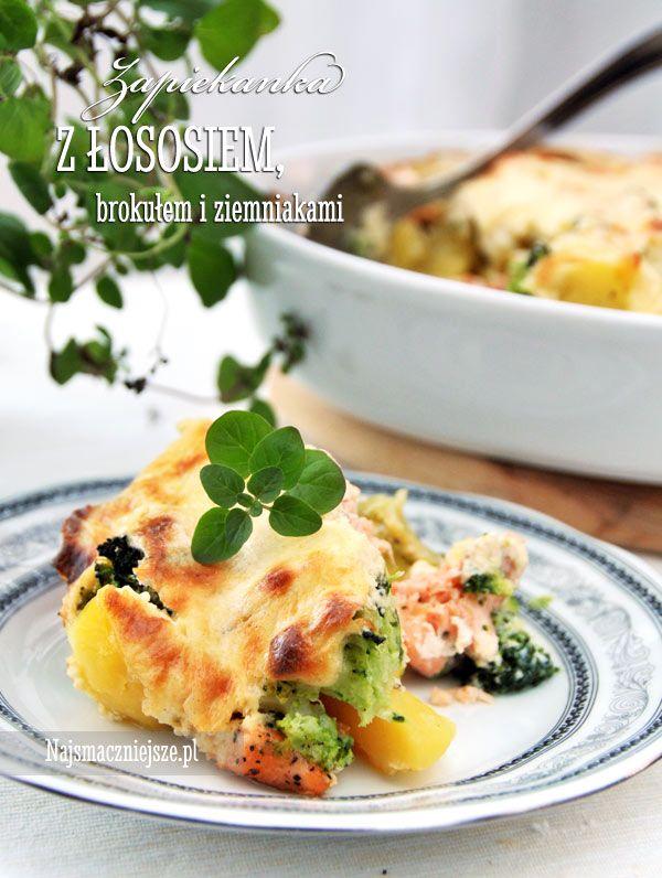 Zapiekanka z łososiem i ziemniakami, zapiekanka z łososiem, zapiekanka z ziemniakami, łosoś, http://najsmaczniejsze.pl #food #zapiekanka #łosoś #salmon