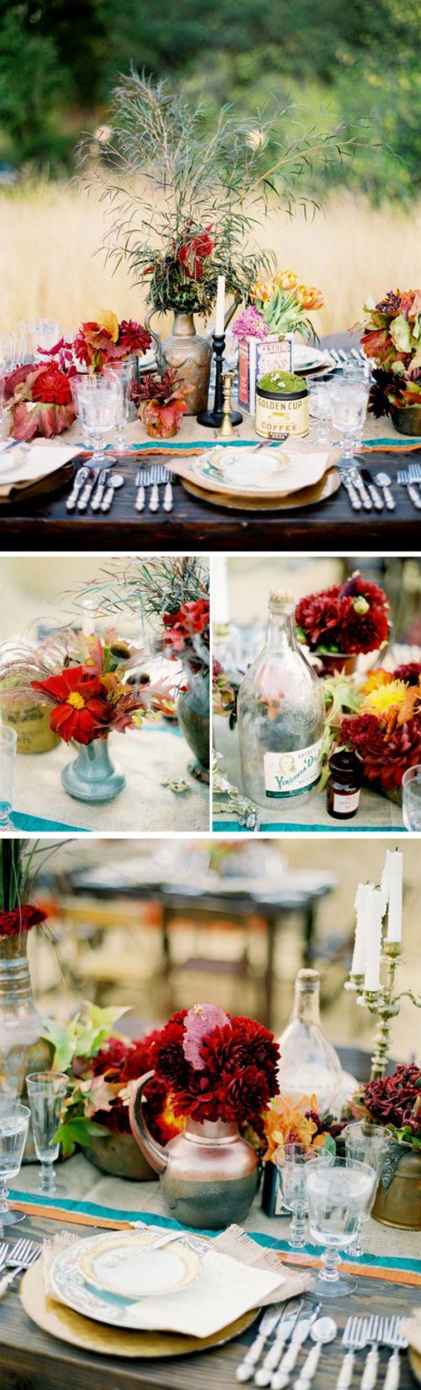 Decoreer je dinertafel helemaal in de herfst sfeer, prachtig!