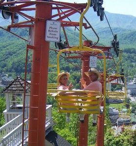 Gatlinburg Sky Lift Provides View Of Gatlinburg Attractions. Must enjoy a ride
