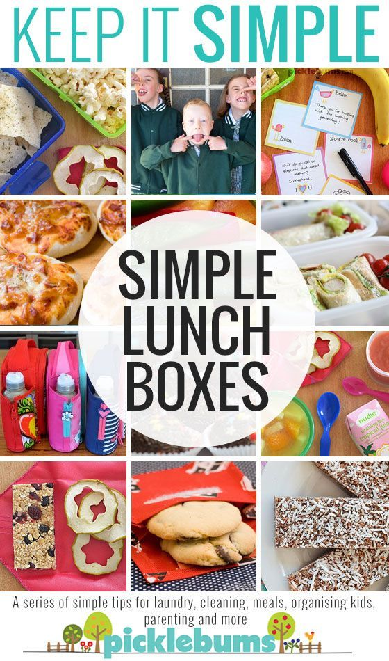 Simple Lunch Box ideas - Simple tips and tricks for taking the stress out of school lunches