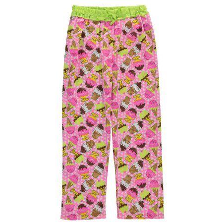 "Sweet n Sassy Big Girls' ""Ice Cream Party"" Pajama Pants (Sizes 7 - 16) - Walmart.com"