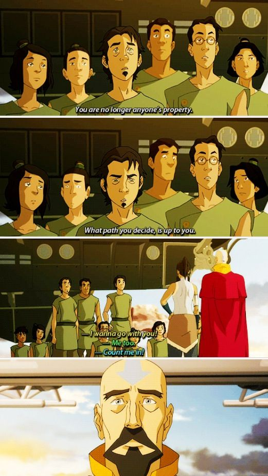 Legend of Korra: This was amazing, it made me tear up. Aang's dream of rebuilding the air nation coming true. *sniff sniff*