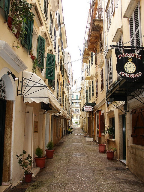 corfu town, greece