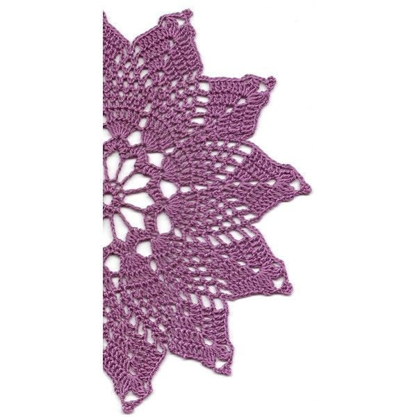 Vintage Handmade Crochet Doily Lace Doilies Wedding Decoration Home... ❤ liked on Polyvore featuring home, home decor, autumn centerpieces, purple doilies, autumn home decor, handmade crochet doilies and purple bowl