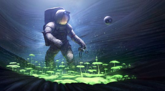 Космическая фантастика (Space Fantasy)    Астронавт-биолог, © Joshua Eiten