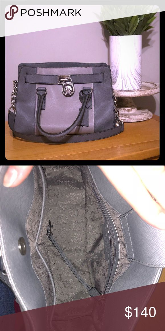 Michael Kors purse Hamilton Two tone gray Michael Kors purse. Bought at Belks two years ago. Barely used and in great condition KORS Michael Kors Bags Satchels