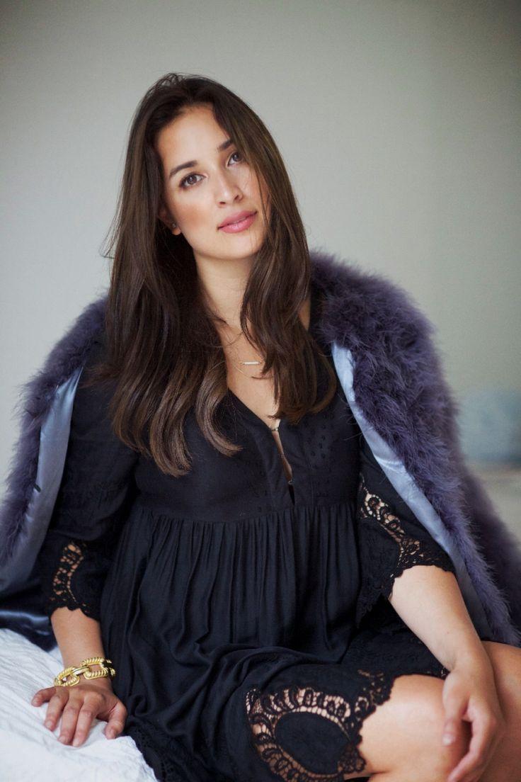 Ingrid Holm blog - feather jacket, embroidered dress
