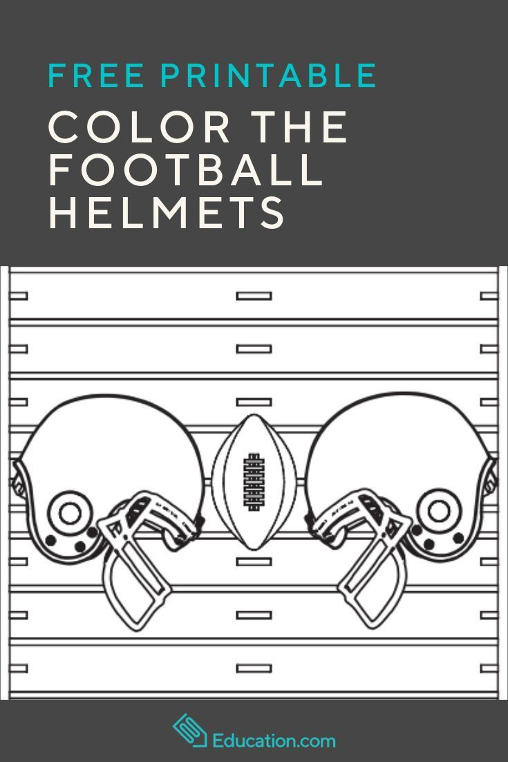 Color The Football Helmets Sports Coloring Pages Back To School