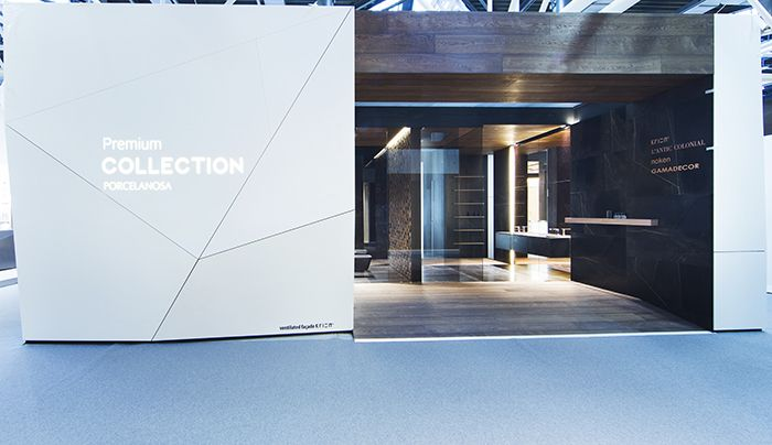 Stand Premium Porcelanosa & L'Antic Colonial – Cersaie 2015. Imágenes Alfonso Calza #architecture #arquitectura #Cersaie2015 #interiordesign #interiorismo #Premium #Porcelanosa #RamonEsteve #AnticColonial #naturalproducts