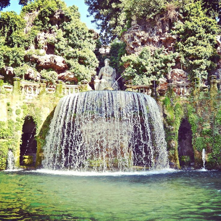 A short day trip from Rome, Villa D'Este is a beautiful spot to get away from the crowds. Messenger Travel can help you find the way. #italy #italia #villadeste #tivoli #rome #roma #escape #travel #vacation #experienceitaly #messengertravel
