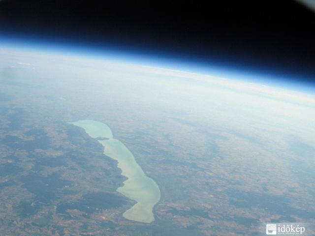 Lake Balaton from 30.000 meters