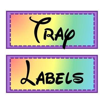 **FREE** Rainbow Labels