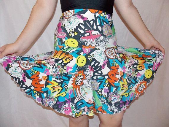circular dance skirt comics funny superhero   print by mjcreation, $40.00