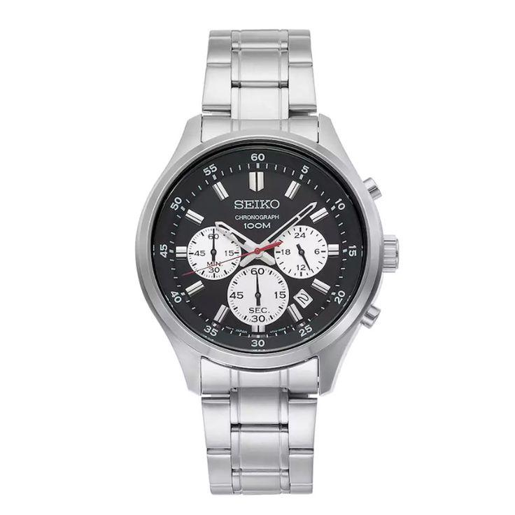 Ανδρικό ρολόι SEIKO SKS593P1 Prospex Solar με μαύρο καντράν, χρονογράφο, ημερομηνία και ατσάλινο μπρασελέ | ΤΣΑΛΔΑΡΗΣ στο Χαλάνδρι #seiko #prospex #solar #μαυρο #χρονογραφος #μπρασελε #tsaldaris