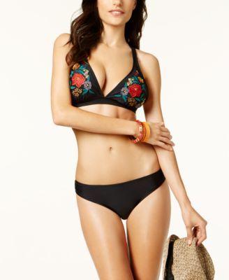 a27b56c4caef Jessica Simpson Shirred Cheeky Hipster Bikini Bottoms - Black XL ...