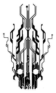 digital flaming cyber skull by NeoGzus on DeviantArt