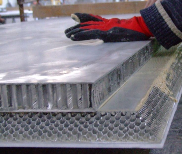 From production with Aluminium honeycomb marble