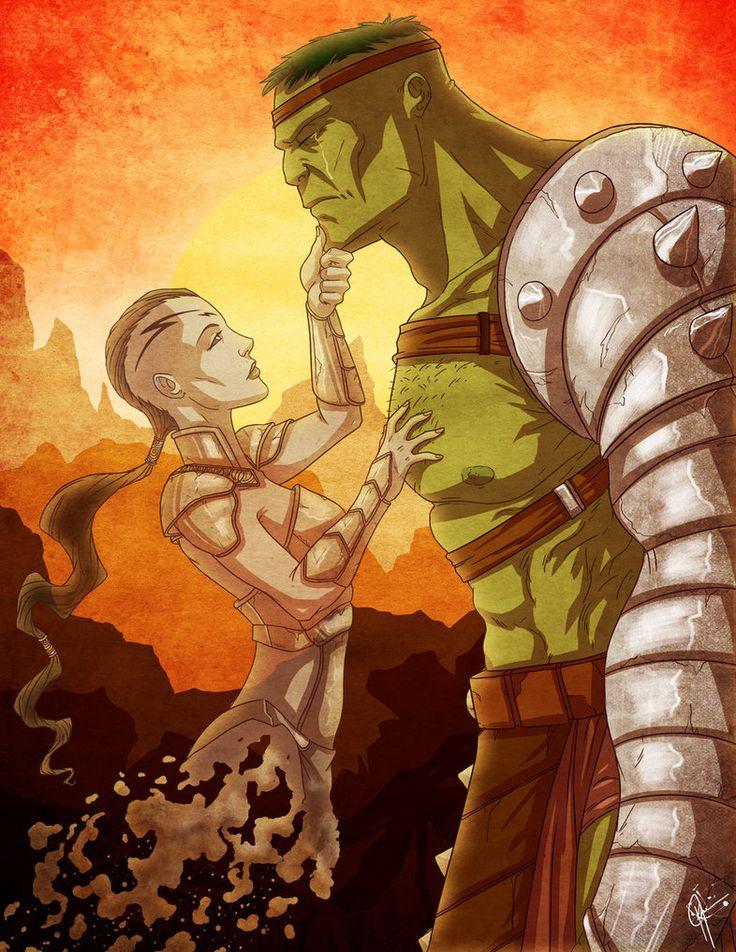 #Hulk #Fan #Art. (Planet Hulk: Tear of the Green Scar) By: Jeftoon01.