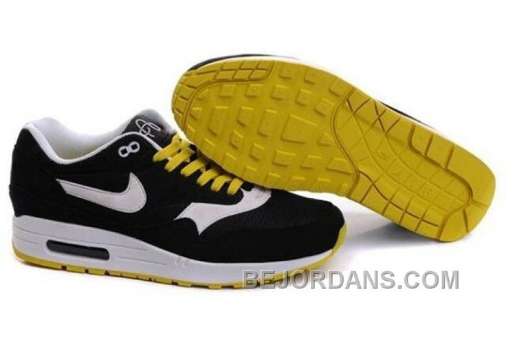 http://www.bejordans.com/free-shipping-6070-off-newest-nike-air-max-1-mens-trainers-omega-black-white-yellow-m4khk.html FREE SHIPPING! 60%-70% OFF! NEWEST NIKE AIR MAX 1 MENS TRAINERS OMEGA BLACK WHITE YELLOW M4KHK Only $100.00 , Free Shipping!