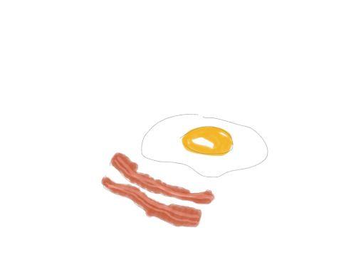#Breakfast of Champions - #egg & #bacon   #food